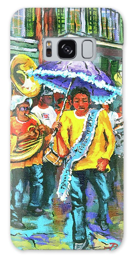 Treme Galaxy S8 Case featuring the painting Treme Brass Band by Dianne Parks