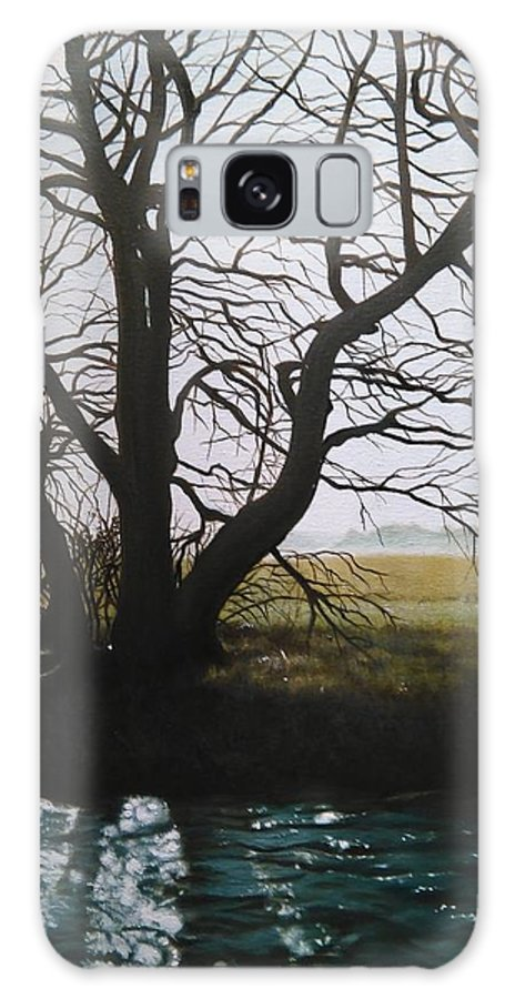 Tree Galaxy S8 Case featuring the painting Trent Side Tree. by Caroline Philp