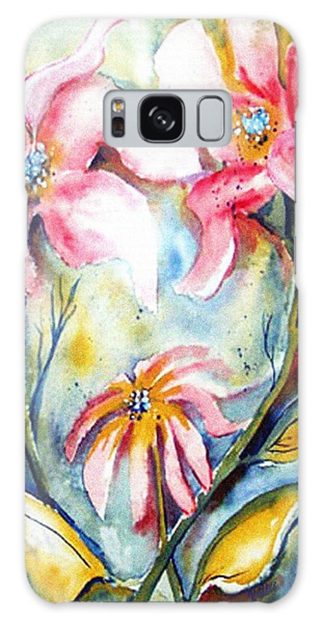 Heat Galaxy S8 Case featuring the painting Tres Fleurs In Heat by Vallee Johnson