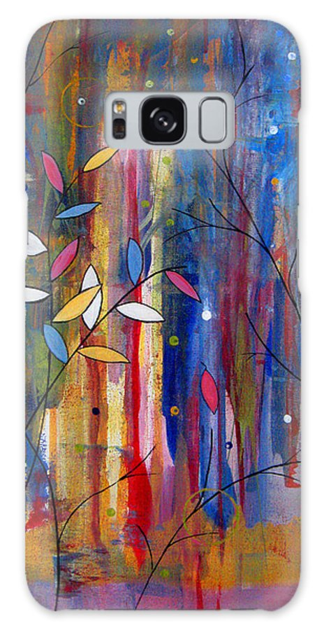Abstract Galaxy Case featuring the painting Tres Jolie by Ruth Palmer