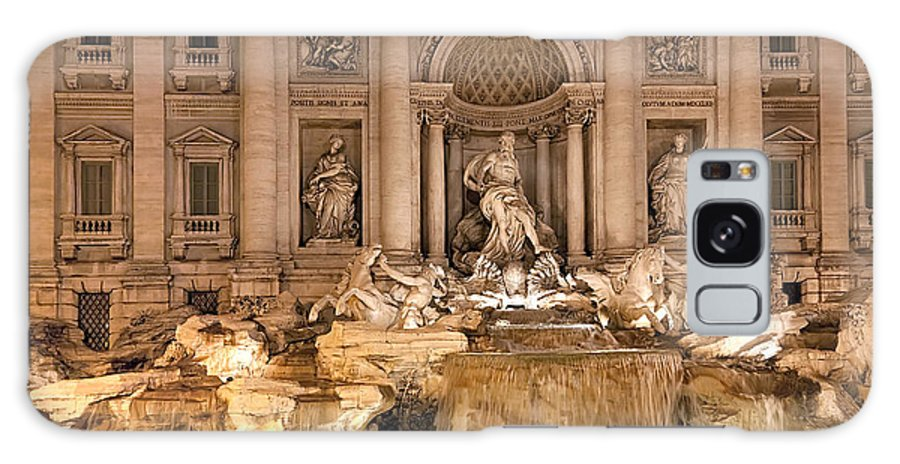 Italy Galaxy S8 Case featuring the photograph Trevi Fountain by Janet Fikar