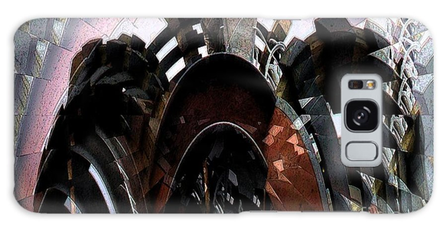 Deck Galaxy S8 Case featuring the digital art Trex Decks by Ron Bissett