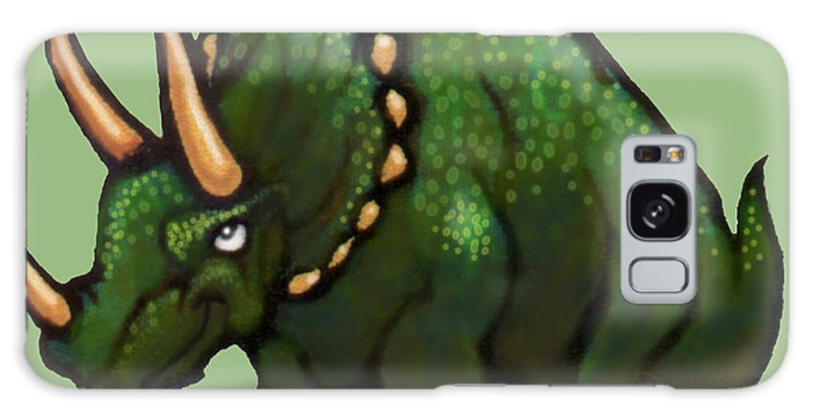 Triceratops Galaxy S8 Case featuring the greeting card Triceratops by Kevin Middleton