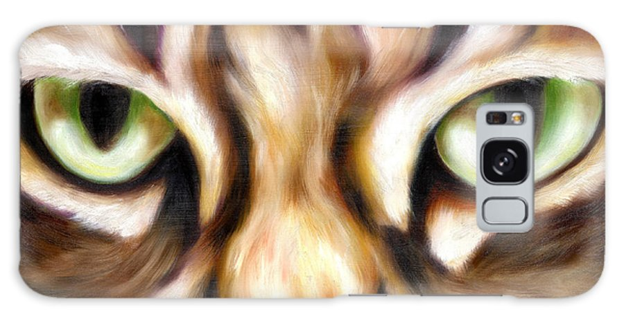 Cat Galaxy S8 Case featuring the painting Trick Or Treat by Hiroko Sakai