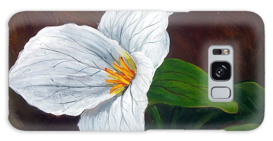 Nature Galaxy Case featuring the painting Trillium by Tami Booher
