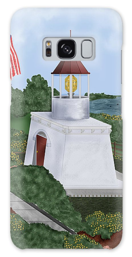 Trinidad Memorial Galaxy Case featuring the painting Trinidad Memorial Lighthouse by Anne Norskog