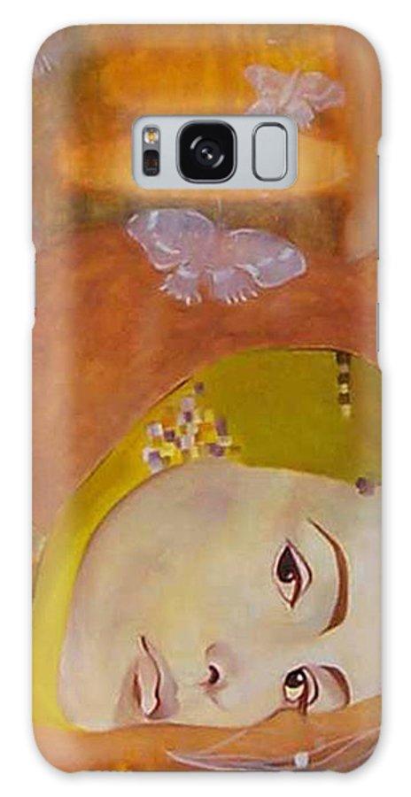 Figurative Galaxy Case featuring the painting Trio by Antoaneta Melnikova- Hillman