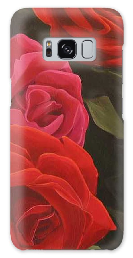 Roses In Italy Galaxy S8 Case featuring the painting Trio by Hunter Jay