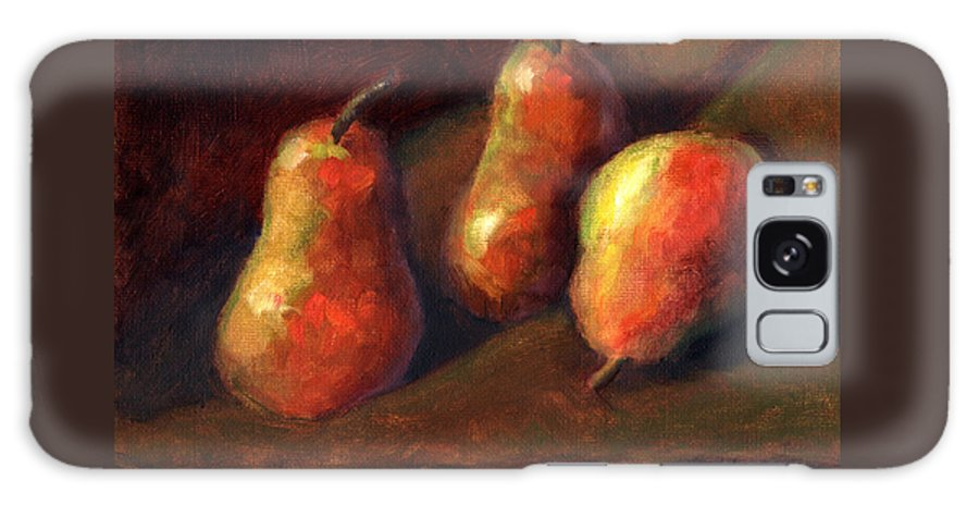 Fruit Galaxy S8 Case featuring the painting Trio by Linda Hiller