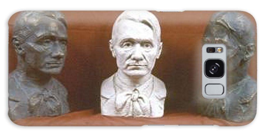 Galaxy S8 Case featuring the sculpture Trio Portrait Of Rudolf Steiner by David Dozier