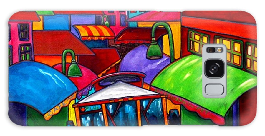Trolley Galaxy S8 Case featuring the painting Trolley by Patti Schermerhorn