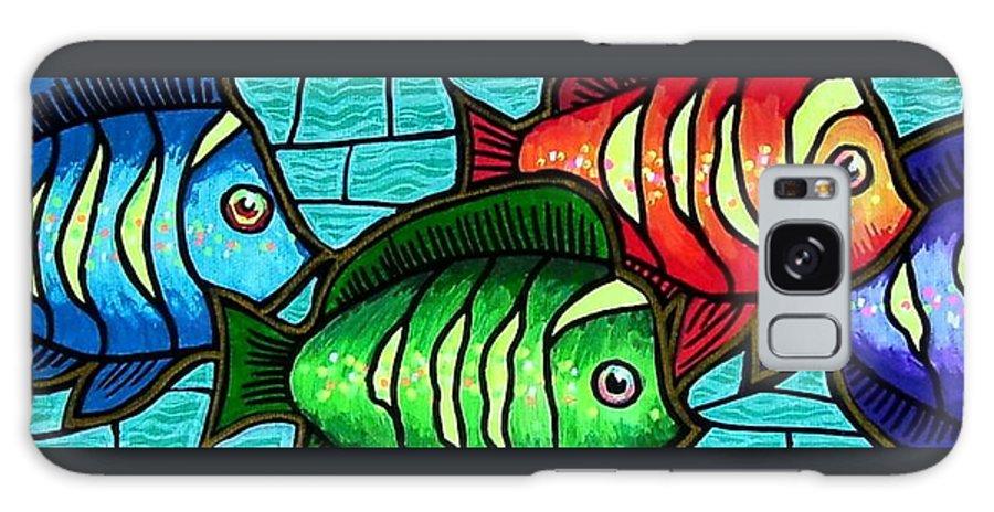 Tropics Galaxy S8 Case featuring the painting Tropic Swim by Jim Harris