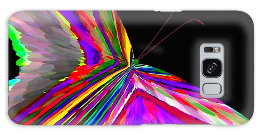 Abstract Galaxy S8 Case featuring the digital art Tropical Butterfly by Will Borden