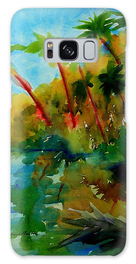 Art Galaxy S8 Case featuring the painting Tropical Canal by Julianne Felton