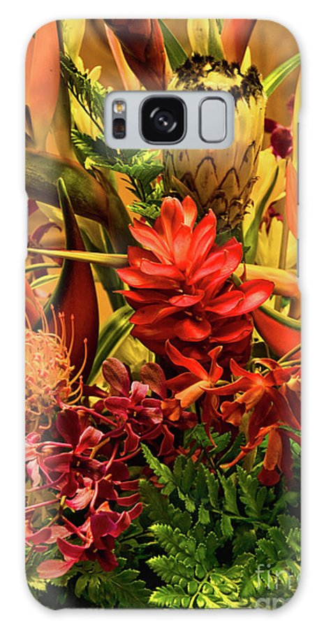 Orange Galaxy S8 Case featuring the photograph Tropical Flowers by Peggy Starks