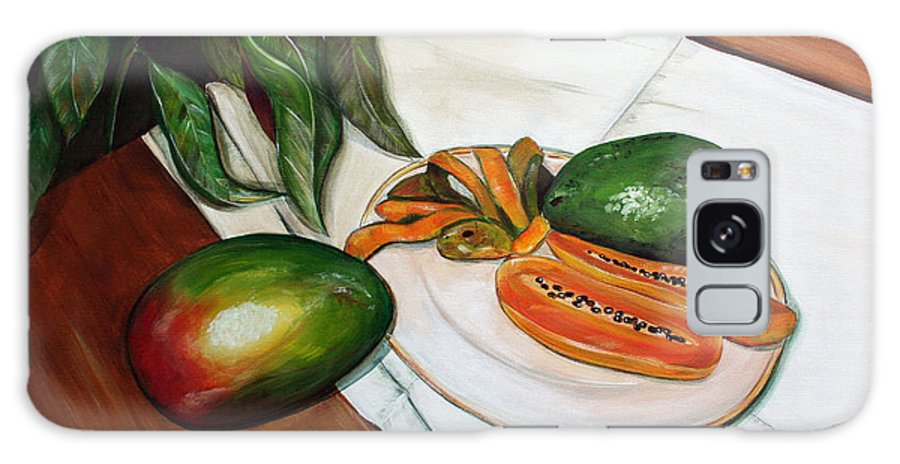 Still Life Galaxy S8 Case featuring the painting Tropical Fruit by Dorothy Riley