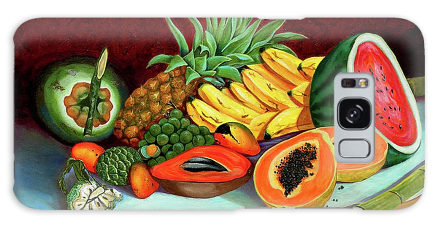 Coconut Galaxy Case featuring the painting Tropical Fruits by Jose Manuel Abraham