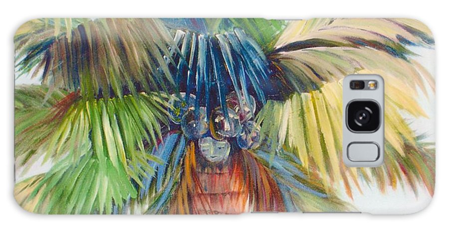 Palm Galaxy Case featuring the painting Tropical Palm Inn by Susan Kubes