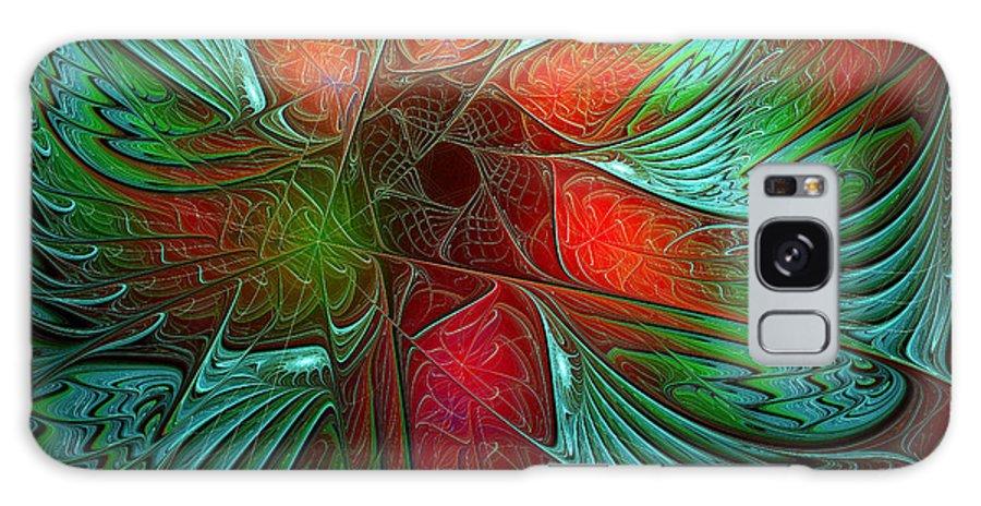 Digital Art Galaxy Case featuring the digital art Tropical Tones by Amanda Moore