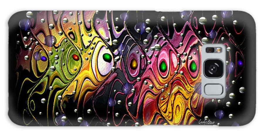 Tropical Galaxy Case featuring the digital art Tropical Traffic by Carolyn Staut