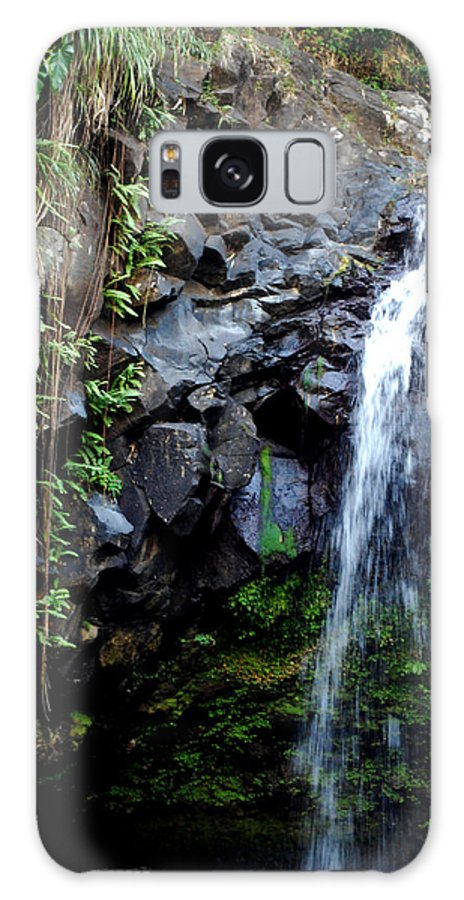 Waterfall Galaxy S8 Case featuring the photograph Tropical Waterfall by Gary Wonning