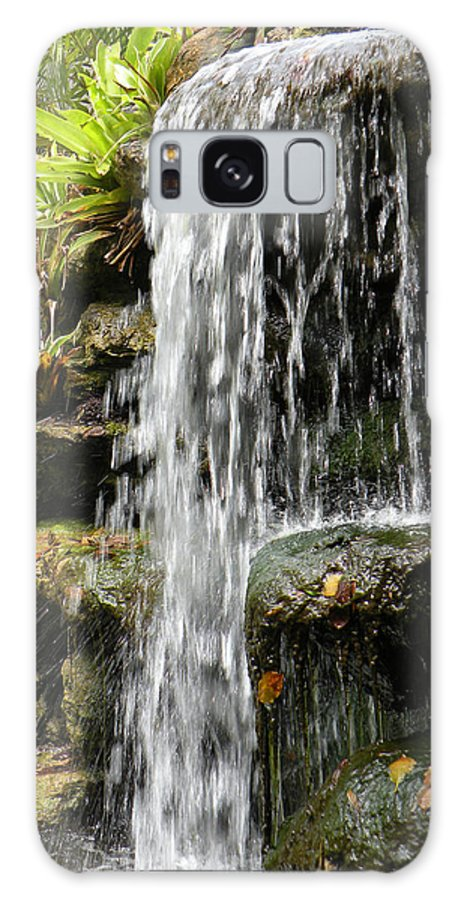 Water Fall Galaxy S8 Case featuring the photograph Tropical Waterfall by Rosalie Scanlon