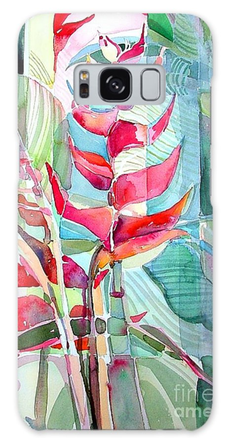 Landscape Galaxy S8 Case featuring the painting Tropicana Red by Mindy Newman