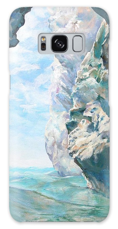 Landscape Paintings Galaxy S8 Case featuring the painting Trouee 2 by Muriel Dolemieux