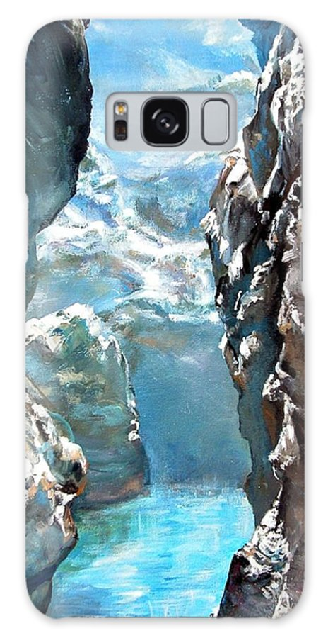Landscape Galaxy S8 Case featuring the painting Trouee 3 by Muriel Dolemieux