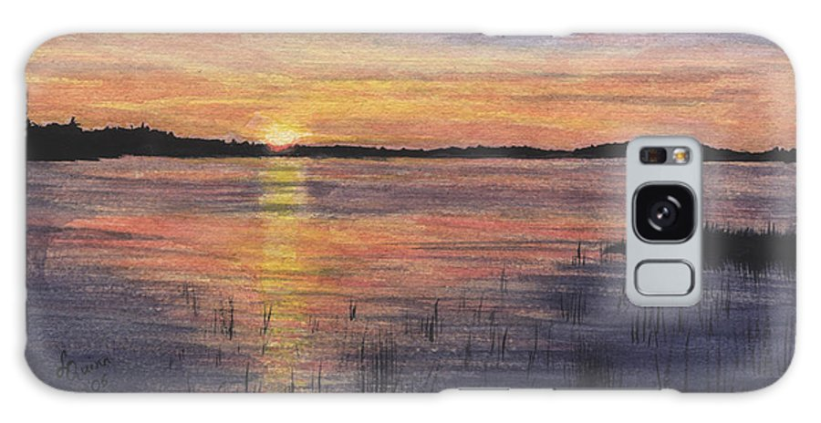 Landscape Galaxy S8 Case featuring the painting Trout Lake Sunset II by Lynn Quinn