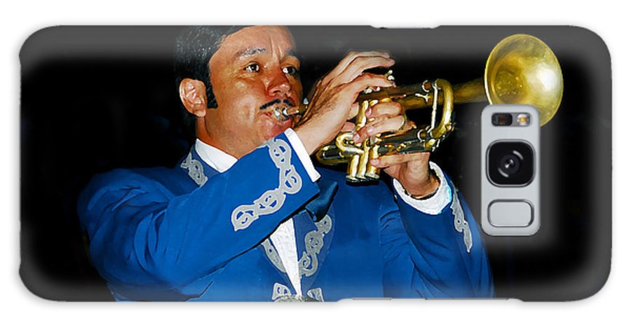 Trumpet5 Galaxy S8 Case featuring the photograph Trumpet Player by David Lee Thompson