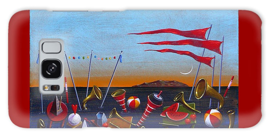 Piano Galaxy Case featuring the painting Trumpets Of The Mediterranean by Dimitris Milionis