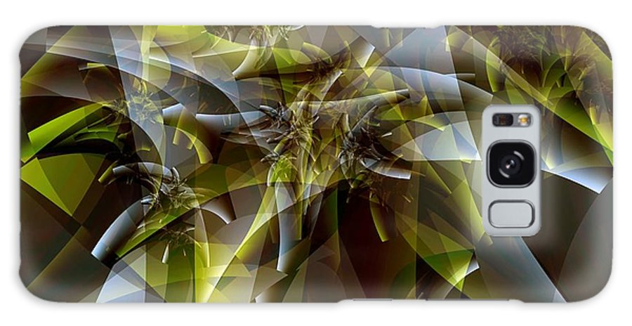 Fractal Art Galaxy S8 Case featuring the digital art Trunks In Green And Gray by Ron Bissett