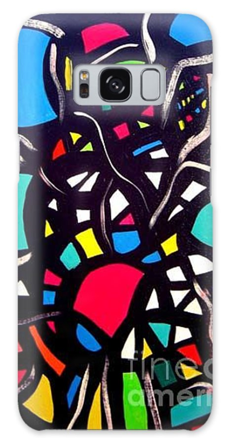 Blue Galaxy Case featuring the painting Try To Look Inside by Safak Tulga
