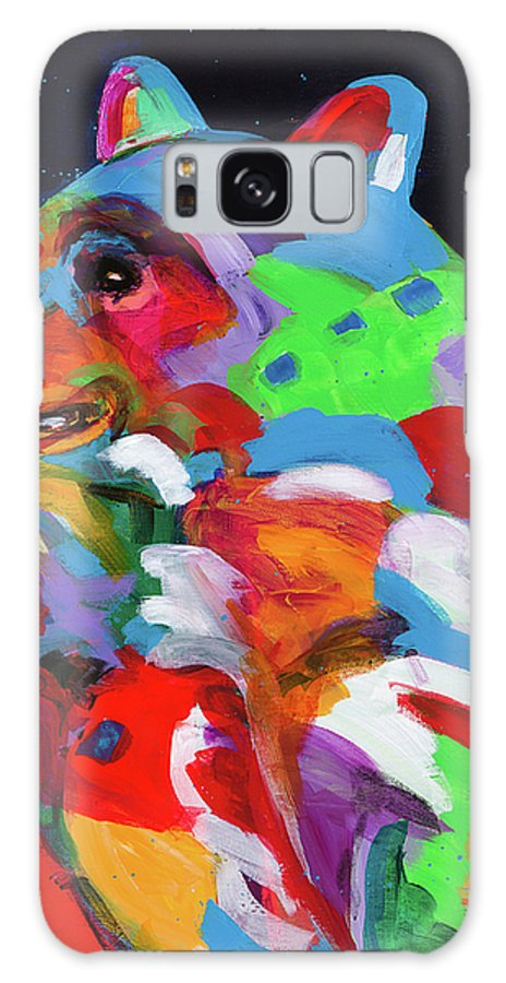 Bear Galaxy S8 Case featuring the painting Trying To Beat The Heat by Tracy Miller