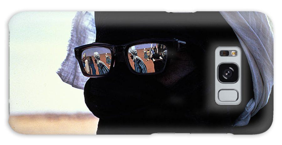 Reflection Galaxy Case featuring the photograph Tuareg With Sunglasses by Carl Purcell