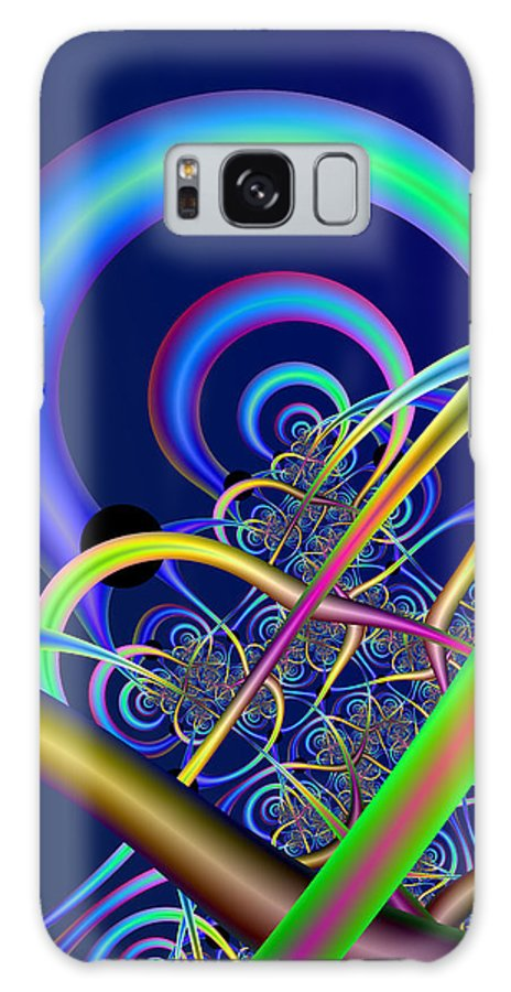 Fractal Galaxy Case featuring the digital art Tubules by Frederic Durville