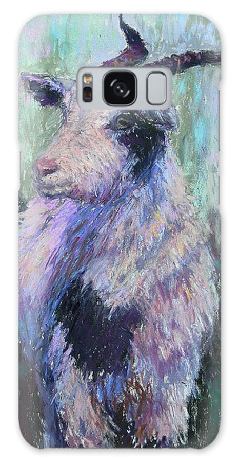 Farm Animals Galaxy S8 Case featuring the painting Tucker Redux by Susan Williamson