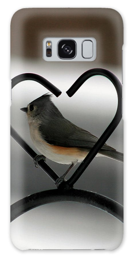 Titmouse Galaxy S8 Case featuring the photograph Tufted Titmouse In A Heart by George Jones