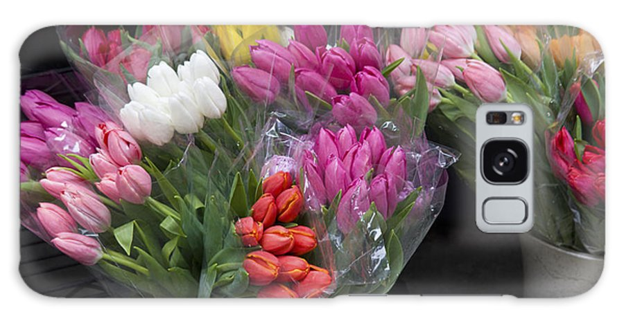 Bunch Galaxy S8 Case featuring the photograph Tulip Bouquets by Diane Macdonald