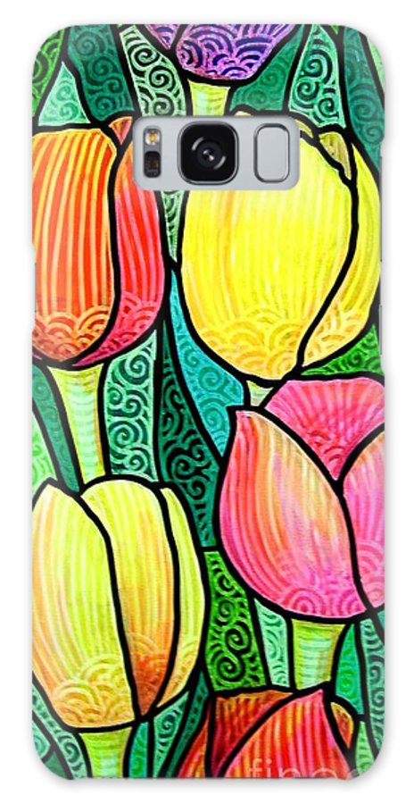 Tulips Galaxy S8 Case featuring the painting Tulip Expo by Jim Harris