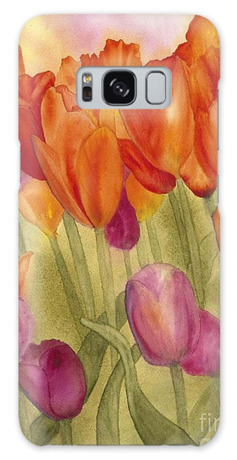 Tulips Galaxy S8 Case featuring the painting Tulip Glory by Louise Magno
