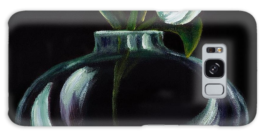 Tulip Galaxy S8 Case featuring the painting Tulip In A Vase by Georgia Pistolis
