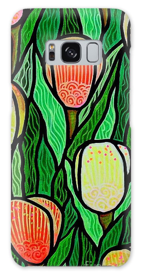 Tulips Galaxy S8 Case featuring the painting Tulip Joy 2 by Jim Harris