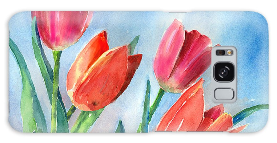 Tulip Galaxy S8 Case featuring the painting Tulips by Arline Wagner