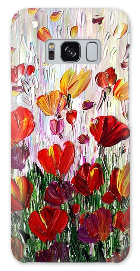 Flowers Galaxy S8 Case featuring the painting Tulips Flowers Garden Seria by Luiza Vizoli