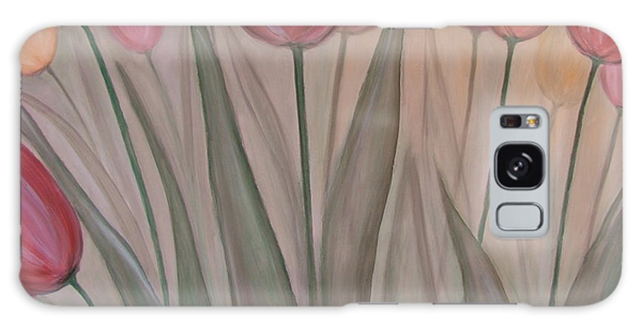 Tulips Galaxy S8 Case featuring the painting Tulips For Carol by Anita Burgermeister