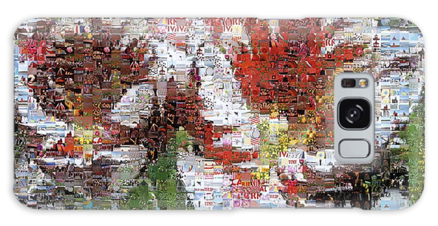Lighthouse Galaxy S8 Case featuring the photograph Tulips In Springtime Photomosaic by Michelle Calkins