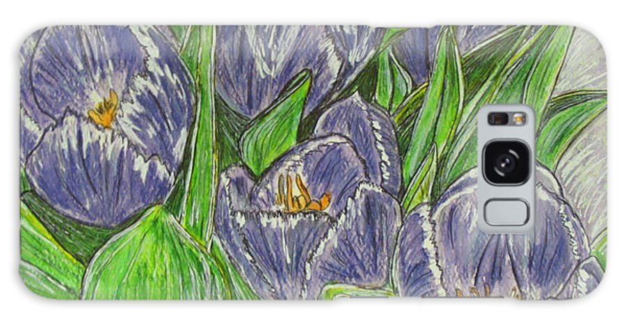 Tulips Galaxy Case featuring the painting Tulips In The Spring by Kathy Marrs Chandler