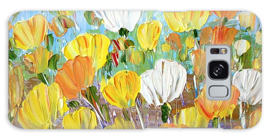 Flowers Galaxy S8 Case featuring the painting Tulips by Luiza Vizoli